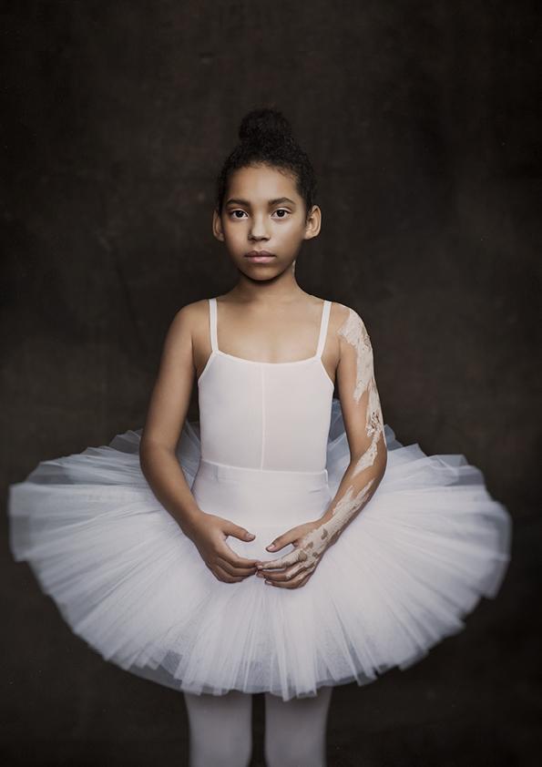 Little ballet dance wearing a tutu