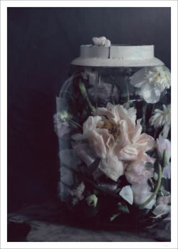 Flowers in a glass jar poster