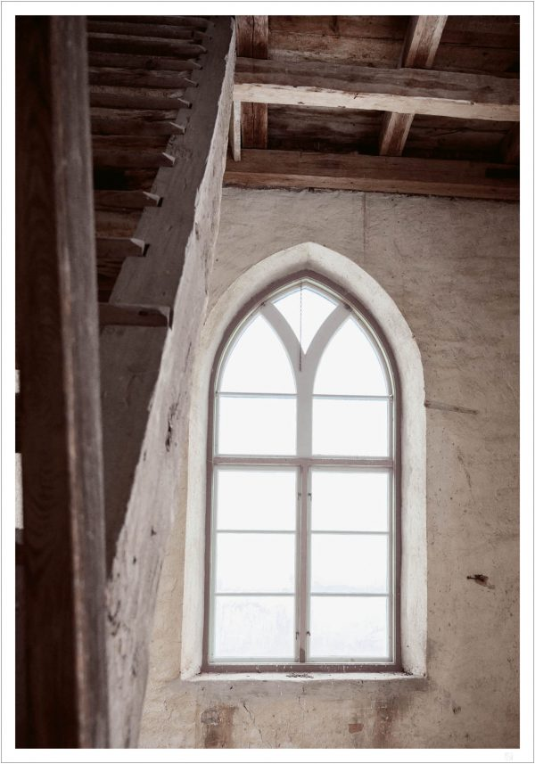 old window and stair poster