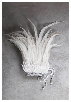White feather crown poster