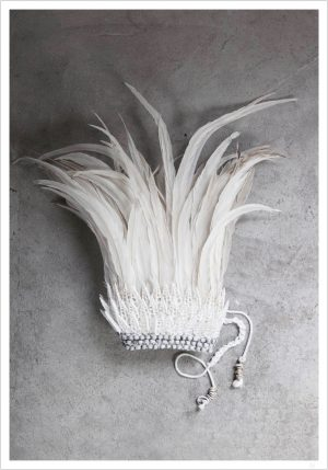 A cron made out of white feathers and you get White feather crown poster