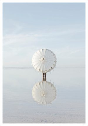 umbrella poster and ocean